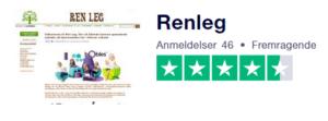 Trustpilot anmeldelser af RenLeg.dk