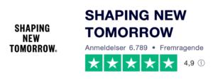 Trustpilot anmeldelser af ShapingNewTomorrow.dk