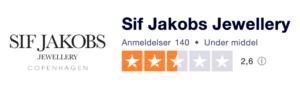 Trustpilot anmeldelser af SifJakobs.dk