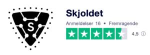 Trustpilot anmeldelser af Skjoldet.dk