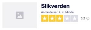 Trustpilot anmeldelser af Slikverden.dk