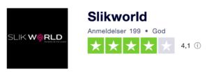 Trustpilot anmeldelser af Slikworld.dk