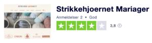 Trustpilot anmeldelser af Strikkehjørnet-Mariager.dk