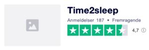 Trustpilot anmeldelser af Time2Sleep.dk