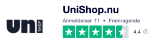 Trustpilot anmeldelser af Uni-Shop.dk