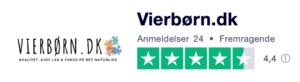 Trustpilot anmeldelser af ViErBørn.dk