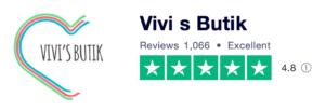 Trustpilot anmeldelser af VivisButik.dk