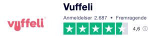 Trustpilot anmeldelser af Vuffeli.dk