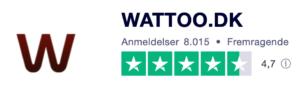 Trustpilot anmeldelser af WATTOO.dk