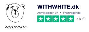 Trustpilot anmeldelser af WITHWHITE.dk