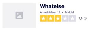 Trustpilot anmeldelser af Whatelse.dk