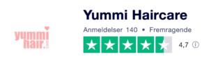 Trustpilot anmeldelser af YummiHaircare.dk
