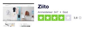 Trustpilot anmeldelser af Ziito.dk
