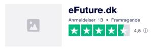 Trustpilot anmeldelser af eFuture.dk