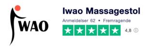 Trustpilot anmeldelser af iwao-massagestol.dk