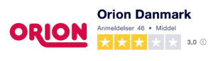 Trustpilot anmeldelser af orion-erotik.dk