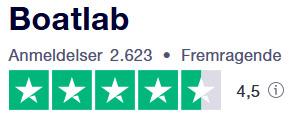 Trustpilot anmeldelser af boatlab.dk